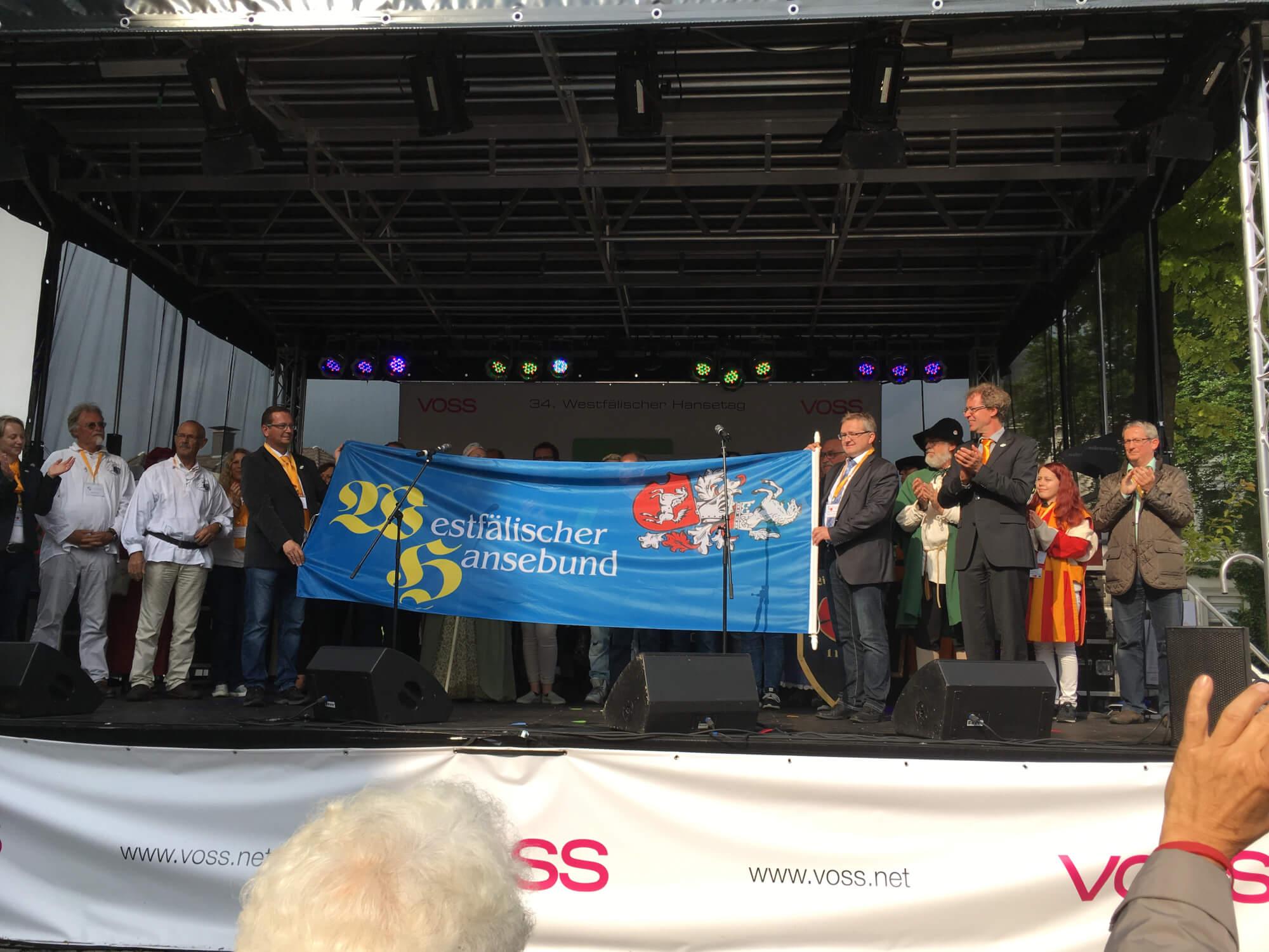 Fahneübergabe der Westfälischen Hanse an Haselünne